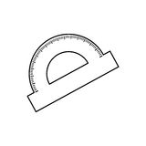 Protractor angle meter Stock Photography