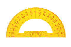 Protractor architect. Royalty Free Stock Photography