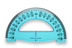 Protractor with clipping. 180 degrees protractor with clipping path isolated Royalty Free Stock Images