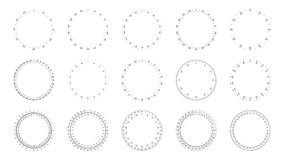 Protractor Dial Faces Royalty Free Stock Image