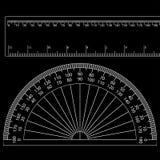 Protractor+ruler Stock Photo