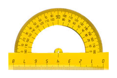 Protractor ruler Stock Photography