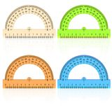 Protractor ruler on a white background. Royalty Free Stock Images