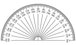 Protractor Template Stock Image