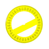 Protractor. On white background royalty free stock photo