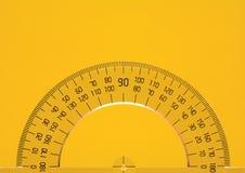 Protractor On Yellow stock image