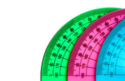 Protractors. Stock Images