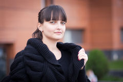 Protrait της beautifful νέας γυναίκας Στοκ φωτογραφίες με δικαίωμα ελεύθερης χρήσης