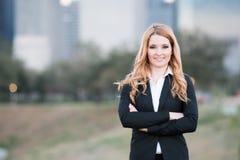 Protrait de jeune femme d'affaires Photos libres de droits