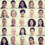 Protrait of Group Diversity People Community Happiness Concept Stock Photography