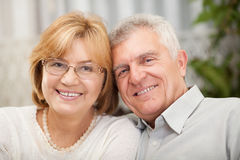Protrait of senior couple Stock Images
