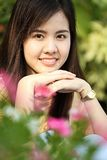 Protrait yong girl in the outside Royalty Free Stock Photos