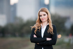 Protrait of young business woman Royalty Free Stock Images