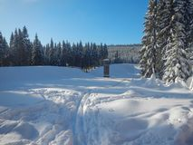 Protrzena prehrada site in jizerske hory in czech republic Stock Photography