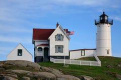 protubérance légère de neddick du Maine de cap photographie stock libre de droits
