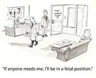 Protuberancia en la posición fetal Fotos de archivo libres de regalías
