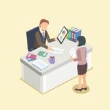 Protuberancia y secretaria stock de ilustración
