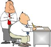 Protuberancia y trabajador stock de ilustración