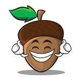 Proud acorn cartoon character style Stock Photography