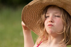 Proud blond girl Royalty Free Stock Images