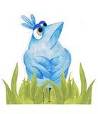 Proud blue bird. Royalty Free Stock Image