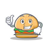 Proud burger character fast food Stock Photos