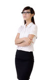 Proud business woman. With confident expression against white Stock Photos