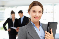 Proud business woman in office Royalty Free Stock Images