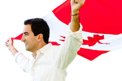 Proud Canadian man Royalty Free Stock Photography