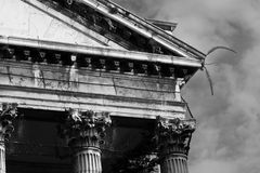 Proud classical architecture. Detail of an old neoclassical building in Venice Royalty Free Stock Photos