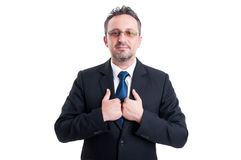 Proud and confident business man Stock Images