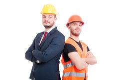 Proud or confident engineer and businessman Stock Photo