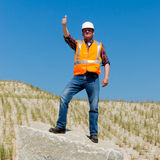Proud Contractor Royalty Free Stock Photography