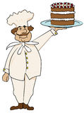 The proud cook Royalty Free Stock Images