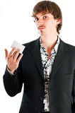 Proud of corporate card Royalty Free Stock Photos
