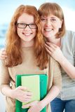 Proud of daughter Stock Images