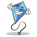 Proud face blue kite character cartoon Royalty Free Stock Images