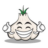 Proud face garlic cartoon character. Vector illustration Stock Photography