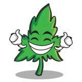 Proud face marijuana character cartoon. Vector illustration vector illustration