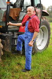 Proud farmer Royalty Free Stock Photography
