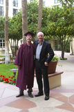 Proud Father at Son's College Graduation royalty free stock images