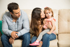 Proud father staring at his family Royalty Free Stock Photo