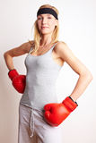 Proud female boxer Stock Photos