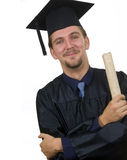 Proud Graduate student with diploma Stock Photos