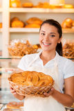 Proud of her baked goods. Stock Photography