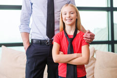 Proud of her father. Stock Photography