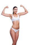 Proud of her fit body. Royalty Free Stock Photo