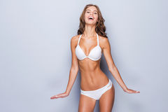 Proud of her perfect body. Royalty Free Stock Photos