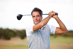 Proud of his swing Stock Photography