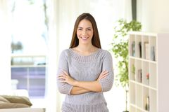 Free Proud Homeowner Posing Looking At You At Home Stock Images - 101912294